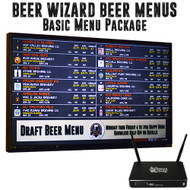 Beer Wizard Beer Menus - Basic