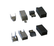 1394b Bilingual FireWire Connector Plug-kit with Metal Shell