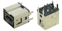 1394b 9 Pin Vertical Bilingual FireWire Connector Receptacle