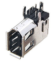 1394a 6 Pin Side Right Angle FireWire Connector Receptacle