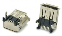1394a 6 Pin FireWire Connector Receptacle
