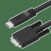 USB 3.1 C to Micro B Locking