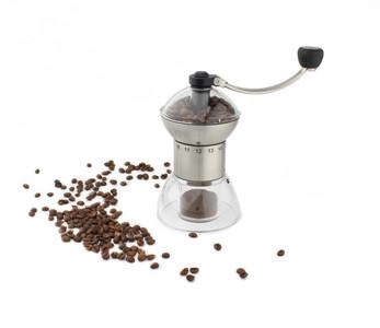 Cafe Stal Hand Grinder - Steel & Acrylic