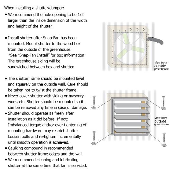 Information - Exhaust Shutter Install - Snap-Fan