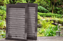 Large Greenhouse - Two Intake Louvers - Paintable Bondo