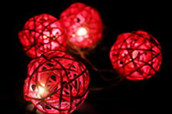 Red Ball Party Lights Battery Powered