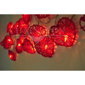 Red Heart Party Lights Battery Powered