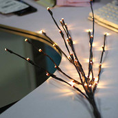 LED Branch Stem Stick Bundle Lights warm White Battery Powered