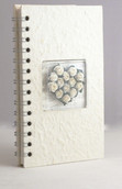 Cream Address Telephone Email Book - White Rose Heart Cover - 500+ Contact -Gift
