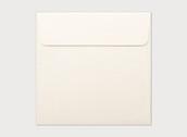 20 Pack - Ivory Wedding Party Invitation Envelopes Metallic - SQ 16x16cm