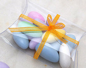 PVC Pillow Rectangle Shaped Gift Box - Wedding or Product Bomboniere Favour