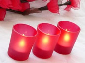 Red Tealight Candle Votive Holder