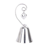 silver bell bomboniere name card stand holder kissing ring