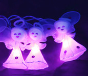 Heavenly Angels Fairy Lights - Purple / Deep Pink Colour - 3 Metres Long String