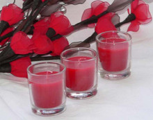 Red wax romantic table room candle