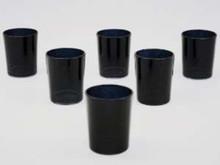 Black Glass Tealight Candle Holder