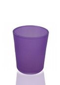 Purple Frosted Glass Tealight Candle Holder