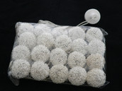 Silver metal threads weaved 4cm ball LED light string