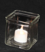7.5cm Large Square Cube Candle Holder