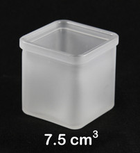Square Frosted Glass Candle Holder