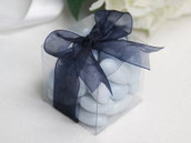 Clear Plastic 6cm Square Cube Gift Box - Wedding Anniversary Birthday Macaron