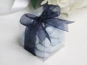 Clear Plastic 6cm Square Cube Gift Box - Wedding Anniversary Birthday Macaron