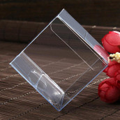 PVC Clear See Through Plastic 10cm Square Cube Box - Large Bomboniere or Exhibition Gift