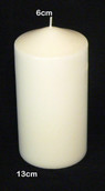 13cm tall pillar wax candle