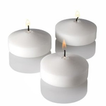 White floating candle - 6-7 long burn time