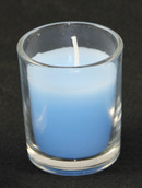 Blue Wax Candle - Boy Birthday Christening Memorial