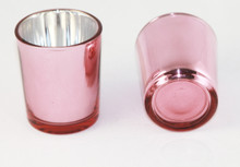 Rose Gold Glass Tealight Candle Holder
