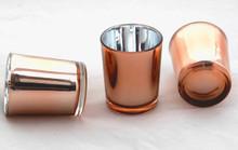 Copper Glass tealight votive candle holder wedding function event decor