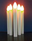 LED Taper candle white for candelabra - safe hold - concert, church, vigil