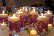 Ivory Wax Floating Candles