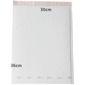 10 Piece Pack -360x300mm White Bubble Padded Bag Post Courier Mailer Envelope