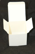 White 5cm Square Cube Card Gift Box - Wedding Bomboniere Favour
