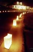 PLAIN WHITE candle bag Lantern Luminary Wedding or Party - 10 Pack - FREE SHIPPING