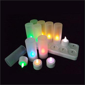 Rechargeable LED Battery Tealight Candles