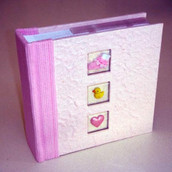 Baby girl pink photo album