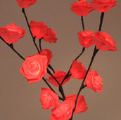 Red Rose Stem Bunch Lights