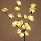 White Rose Stem Bunch Lights