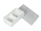 WHITE CHOCOLATE BOX BOXES WITH CLEAR LID 2 insert pack chocolate favours gift