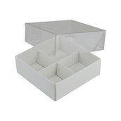 WHITE CHOCOLATE BOX BOXES WITH CLEAR LID 4 insert pack chocolate favours gift