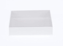 White Box Clear lid slide on cover