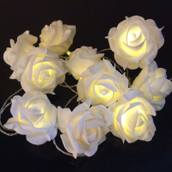 White Rose LED Fairy Lights
