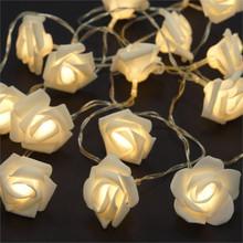 White Rose LED Fairy Lights