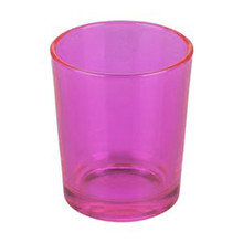 Pink Glass Table Tea Light Candle Holder