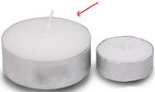 large 6cm tealight candle