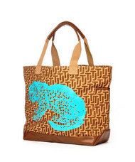 Canvas Tote Bag with Leopard design