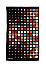 Beach Towel in Aero Dot Black design
